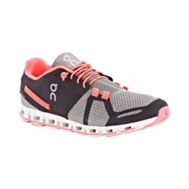 ON Women's Cloud Running Shoes - Charcoal/Pink