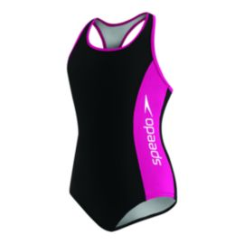Speedo Racer Splice Girls' 1-Piece Suit