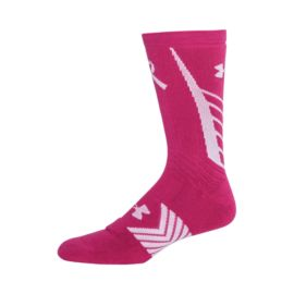 Under Armour Undeniable Power In Pink Women's Crew Socks