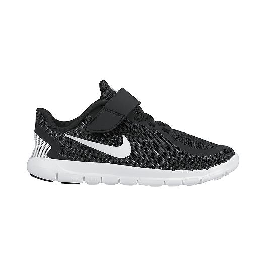 91e23f5554cd Nike Kids  Free 5.0 Preschool Running Shoes - Black White