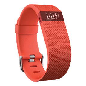 Fitbit Charge HR Fitness Tracker - Tangerine Large