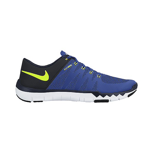 best sneakers fe9a5 8439b Nike Mens  Free Trainer 5.0 V6 Training Shoes - Blue Black Volt Green    Sport Chek