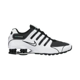 Nike Men's Shox NZ Shoes - White/Black