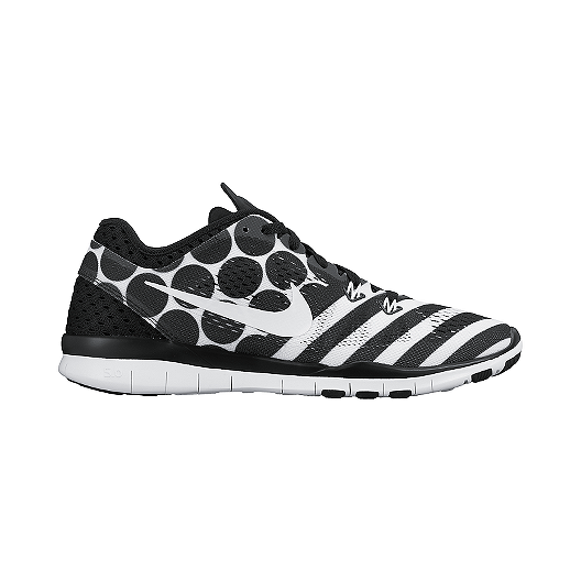 a35ef948a89e Nike Women s Free 5.0 TR Fit 5 Breathe Training Shoes - Black White Pattern