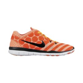 Nike Women's Free 5.0 TR Fit 5 Breathe Training Shoes - Orange Pattern/Black