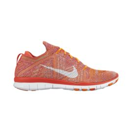 Nike Women's Free Flyknit TR Training Shoes - Orange/Yellow/White