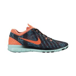Nike Women's Free 5.0 TR Fit 5 Breathe Training Shoes - Black/Blue Pattern/Orange