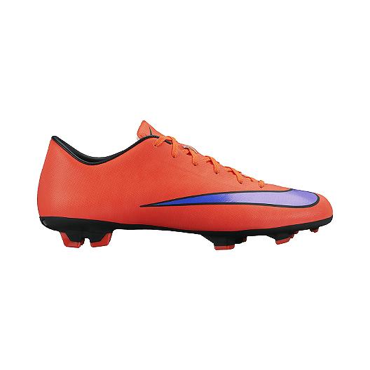 ac7be81d9 Nike Men s Mercurial Victory V FG Outdoor Soccer Cleats - Orange Black Purple