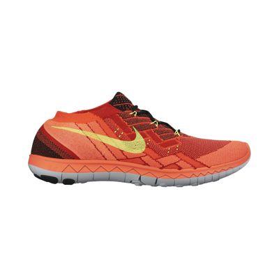 Nike Men's Free FlyKnit 3.0 Running Shoes - Orange/Yellow