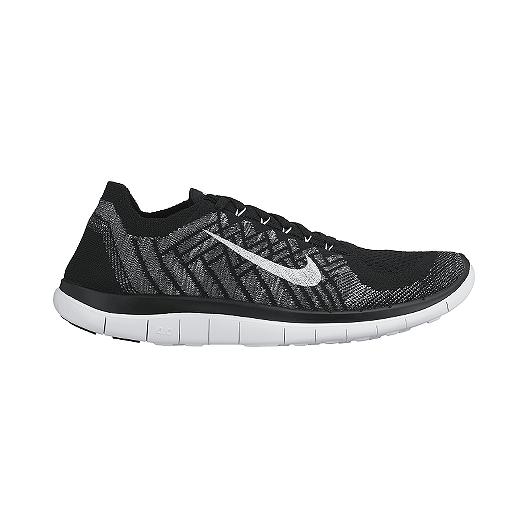 96fce207073c0 Nike Men s Free 4.0 FlyKnit Running Shoes - Black Grey White