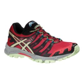 ASICS Women's Gel FujiAttack 3 Trail Running Shoes - Red/Black/Mint Green