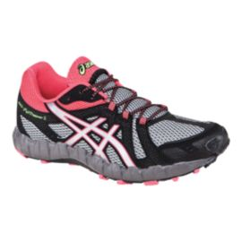 ASICS Women's Gel FujiTrainer 3 Trail Running Shoes - Black/Grey/Pink