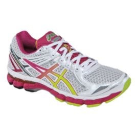ASICS Women's GT-2000 2 Running Shoes - White/Pink/Lime Green