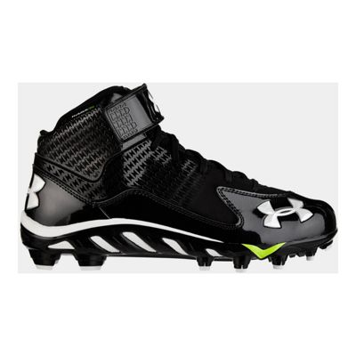 Under Armour Men's Spine Fierce Mid Football Cleats - Black/White