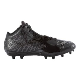 Under Armour Men's Nitro Mid Football Cleats - Black/Silver