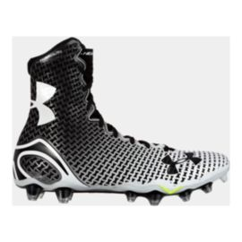 Under Armour Men's Highlight Mid Football Cleats - Black/White