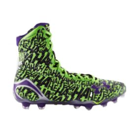 Under Armour Men's Alter Ego Highlight Micro G Mid Football Cleats - Green/Black/Purple
