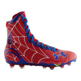 Under Armour Men's Alter Ego Highlight Micro G Mid Football Cleats - Red/Blue/White