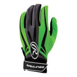 Rawlings Motivation Youth Batting Gloves - Green/Black