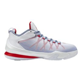 Nike Men's Jordan CP3.VIII AE Basketball Shoes - White/Silver/Red
