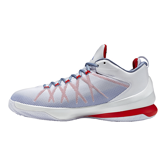 new arrival c5a60 fbef7 Nike Men s Jordan CP3.VIII AE Basketball Shoes - White Silver Red. (1).  View Description