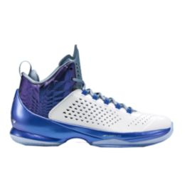 Nike Men's Jordan Melo M11 Basketball Shoes - White/Blue/Purple