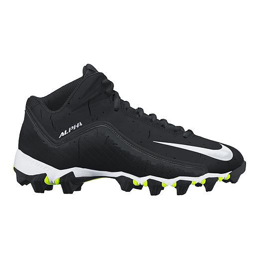 new product b64e2 9c2b0 Nike Men s Alpha Shark 2 Mid Football Cleats - Black White   Sport Chek