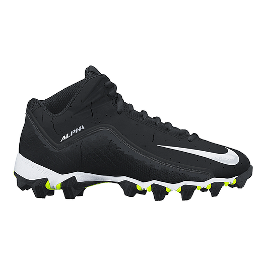 787020ef2 Nike Men's Alpha Shark 2 Mid Football Cleats - Black/White | Sport Chek