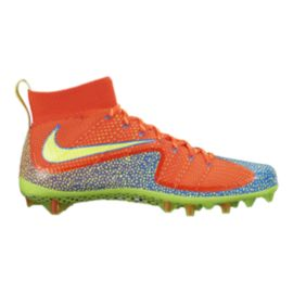 Nike Men's Vapor Untouchable Mid Football Cleats - Orange/Volt Green/Blue