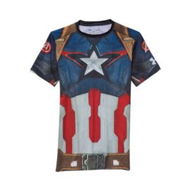 Under Armour Captain America Photo Real Compression Men's Short Sleeve Top