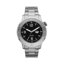 adidas Manchester Watch Stainless Steel Bracelet with Black Dial