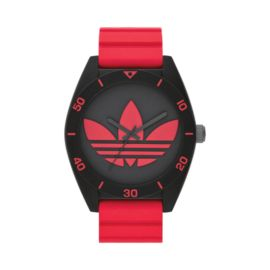 adidas Santiago 50mm Watch Red and Black Silicone