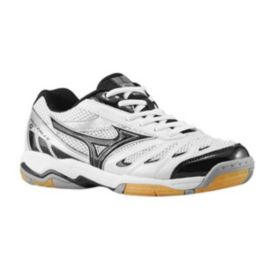 Mizuno Women's Wave Rally 5 Indoor Court Shoes - White/Black/Silver