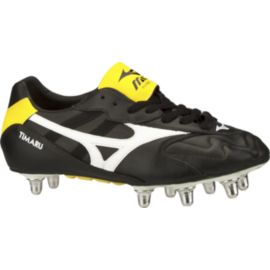 Mizuno Men's Timaru Rugby Cleats - Black/Yellow/White