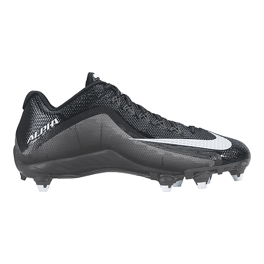 differently e85bb 95ad1 Nike Men s Alpha Pro 2 D Low Football Cleats - Black Silver   Sport Chek