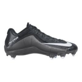 Nike Men's Alpha Pro 2 D Low Football Cleats - Black/Silver