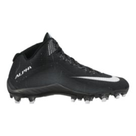 Nike Men's Alpha Pro Mid Football Cleats - Black/White