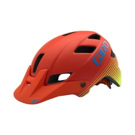 Giro Feature Helmet with MIPS - Matte Glowing Red/Highlight Yellow