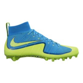 Nike Men's Vapor Untouchable Mid Football Cleats - Blue/Volt Green