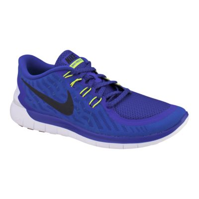 nike free 5.0 men's blue and white buffalo check