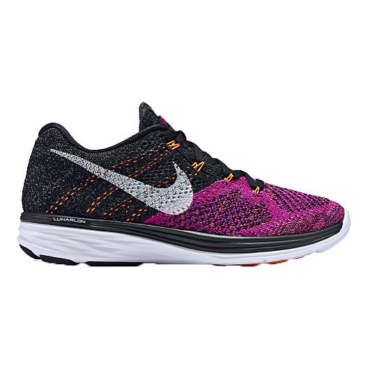 sports shoes 8826d dbf25 Nike Women s FlyKnit Lunar 3 Running Shoes - Black Purple Orange   Sport  Chek