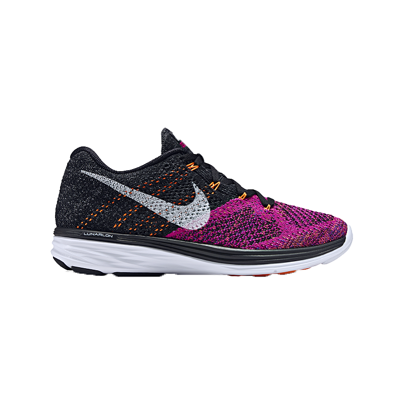sports shoes 79ec8 95980 Nike Women s FlyKnit Lunar 3 Running Shoes - Black Purple Orange   Sport  Chek
