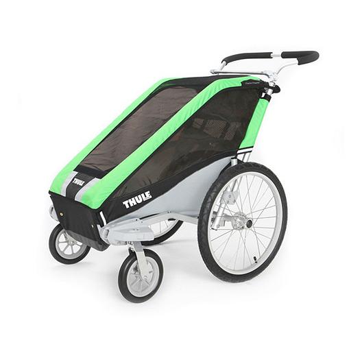 20e806a75a7 Thule Chariot Cheetah 1 + Stroll Green