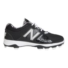 New Balance Men's M2000 2E Wide Width Low Baseball Cleats - Black/White