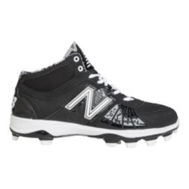 New Balance Men's M2000 2E Wide Width Mid Baseball Cleats - Black/White