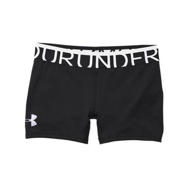 Under Armour Girls' HeatGear Alpha 3 Inch Solid Shorts