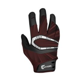 Cutters Rev Pro Football Receiver Glove - Maroon