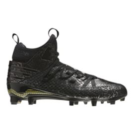 adidas Men's Freak Mid Football Cleats - Black Pattern/Gold