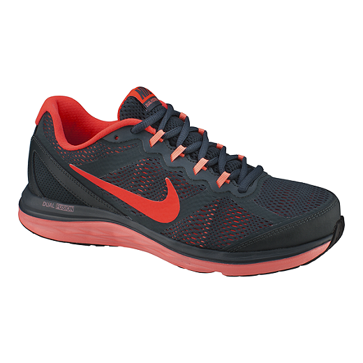 official photos 40e9a cb179 switzerland nike womens dual fusion run 3 running shoes black red 17f0f  2feee