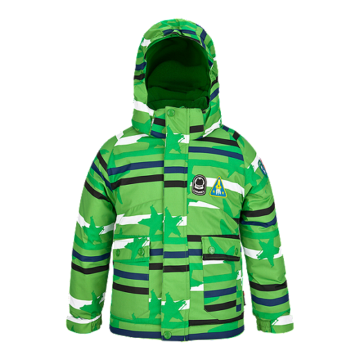 ffc918812 Etirel Cepe Kids' Insulated Jacket - STARS GREEN